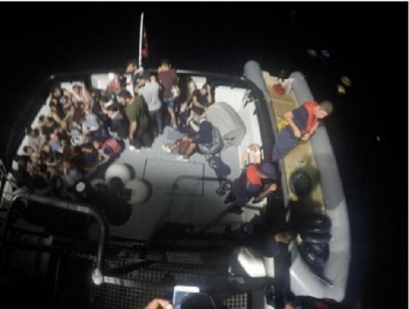 Bodrum açıklarında 35 kaçak göçmen yakalandı