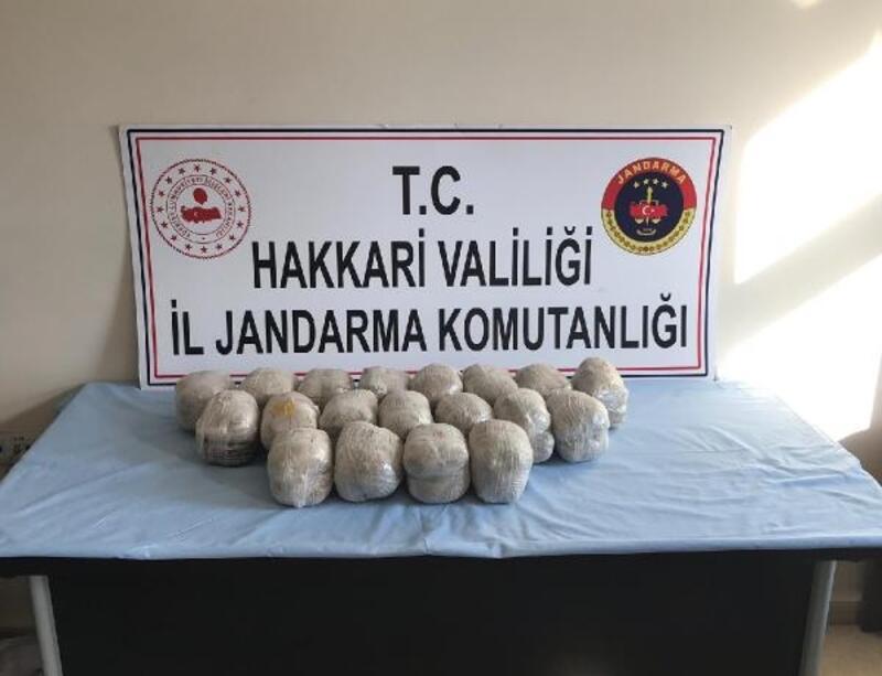 Yüksekova'da 'Kıran' operasyonunda 19 kilo eroin ele geçirildi