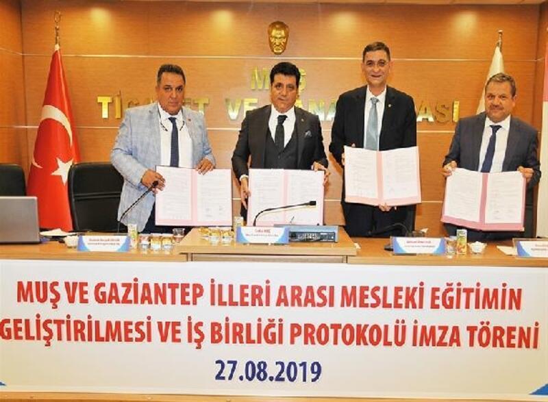 Gaziantep ve Muş arasında Mesleki Eğitimin Geliştirilmesi ve İşbirliği Protokolü