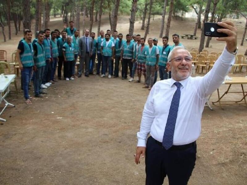 İskenderun'da yükümlülerden çevre temizliği