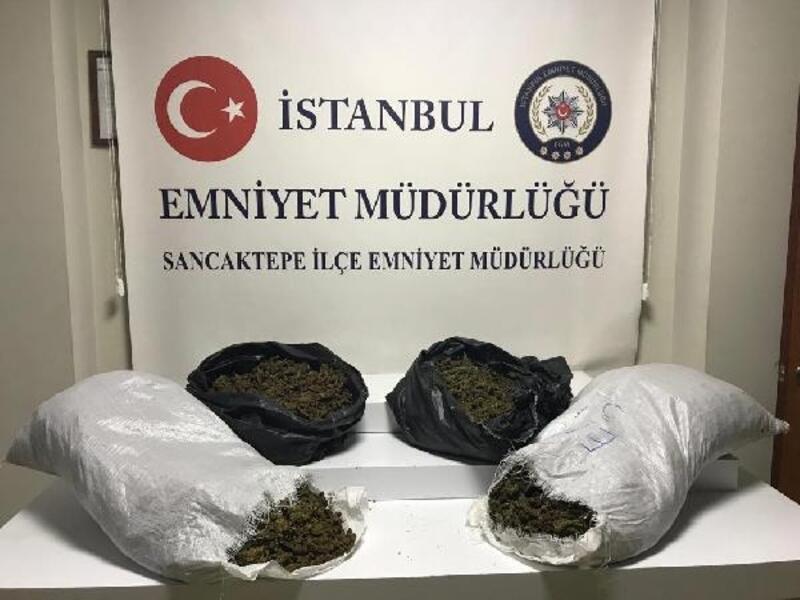 Sancaktepe'de 20 kilogram uyuşturucu ele geçirildi