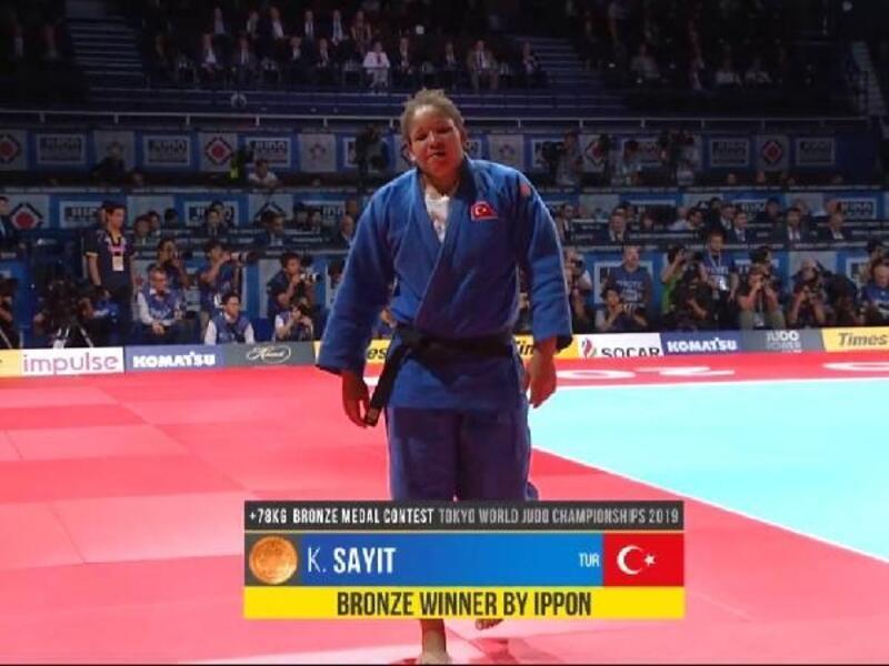 Milli judocu Kayra Sayit'ten bronz madalya