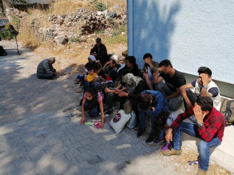 Ayvacık'ta 50 kaçak göçmen yakalandı