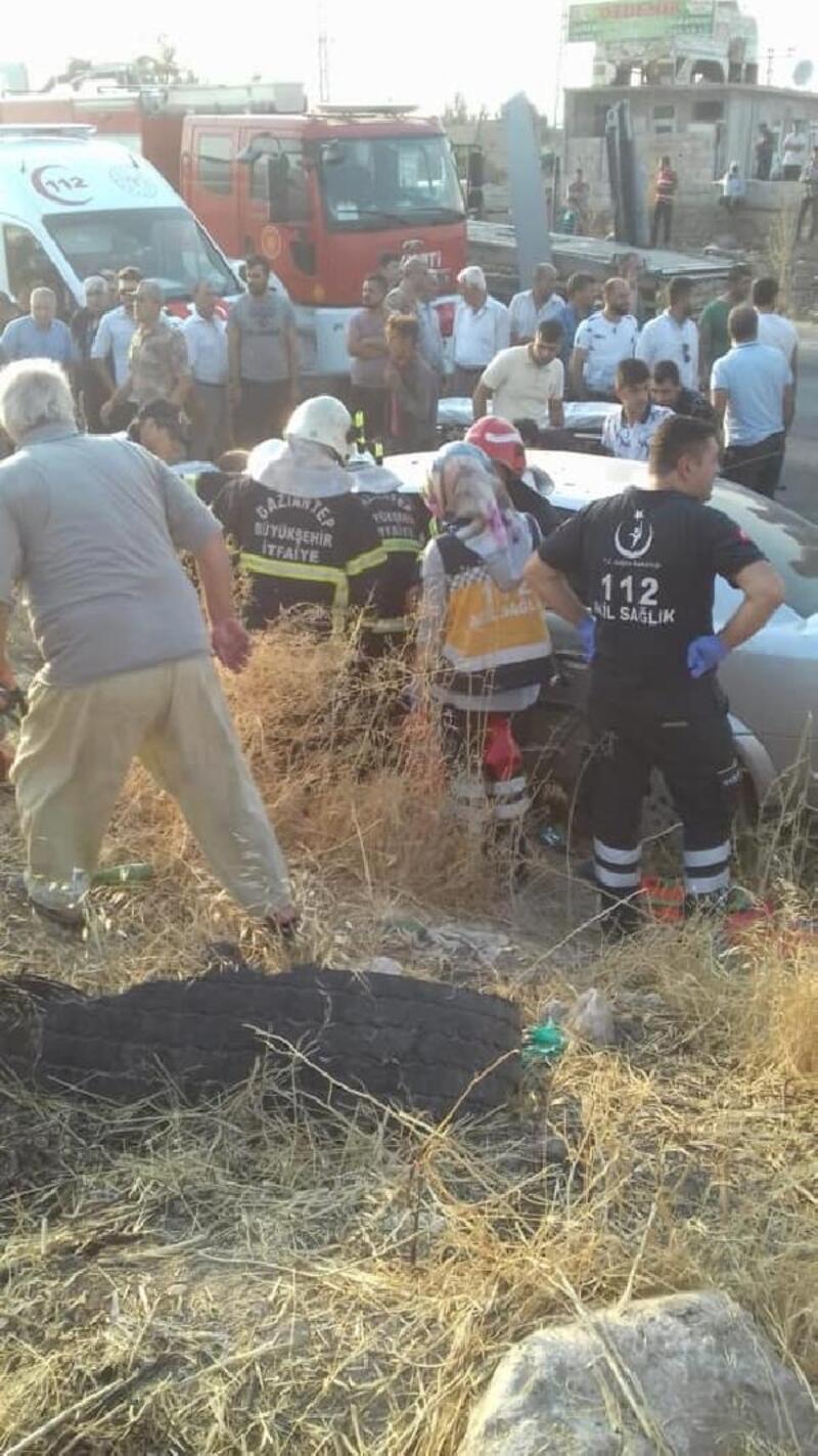 Gaziantep'te kaza: 1 ölü 7 yaralı