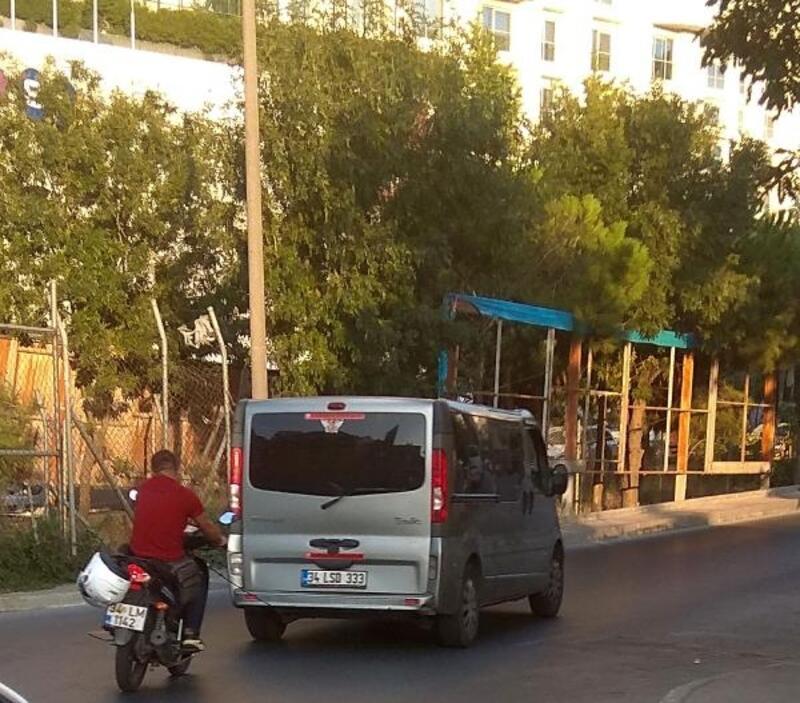 Şişli'de tehlikeli yolculuk