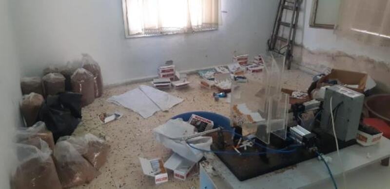 Adana'da kaçak sigara baskını