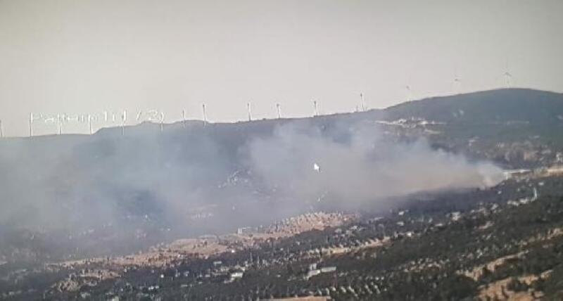 Foça'da makilik yangın