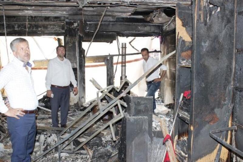 Orhangazi'de işyeri yanan esnaf için yardım kampanyası başlatıldı