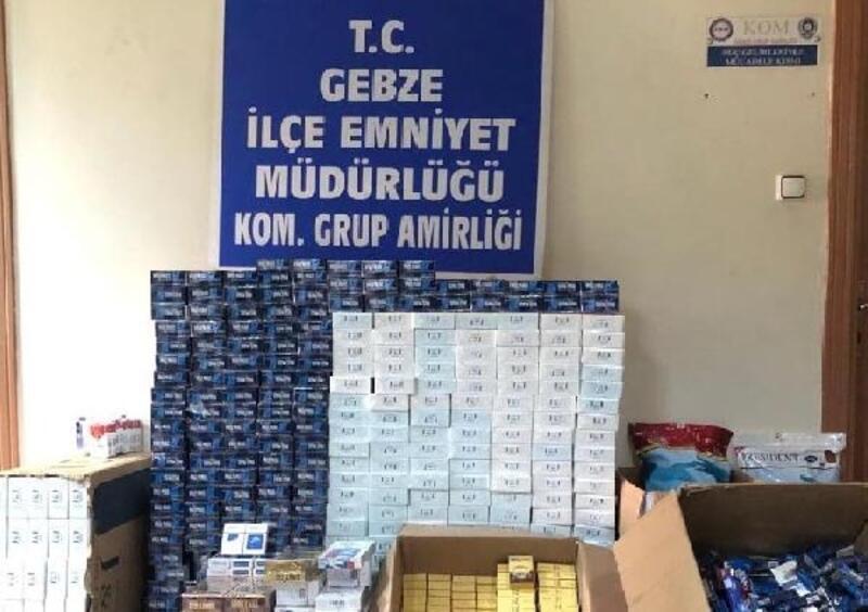 139 karton kaçak sigara ele geçirildi