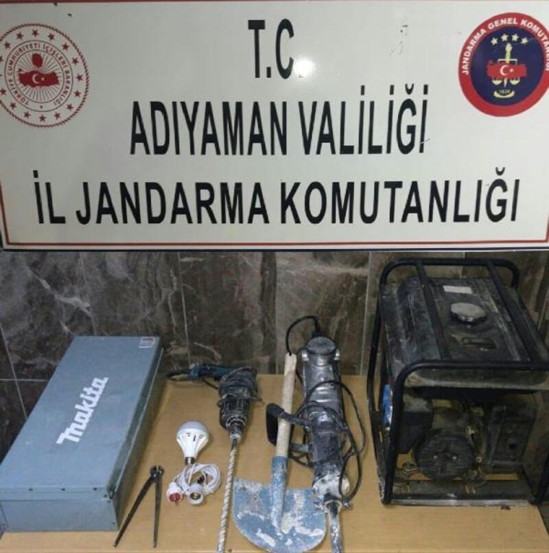 Adıyaman'da izinsiz kazı yapan 7 kişi gözaltına alındı