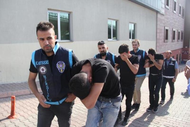 Kayseri'de akü hırsızlığına 2 tutuklama
