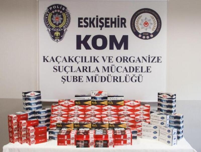 Eskişehir'de kaçak sigara kağıdı operasyonu