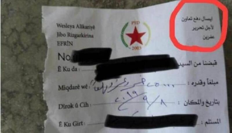 Terör örgütü YPG,  sözde 'Afrin'i kurtarmak' için para topluyor