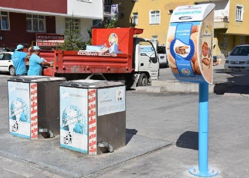 Kocasinan'da bayat ekmek kutularının sayısı artırıldı