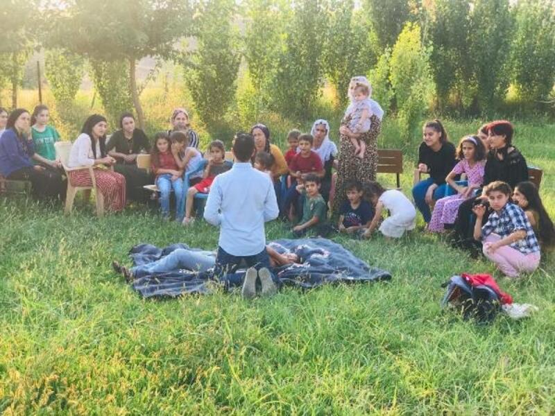 Silopi'de köy kadınlara ilk yardım eğitimi