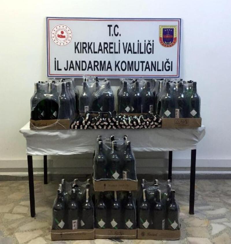 Kırklareli'de 189 litre kaçak içki ele geçti