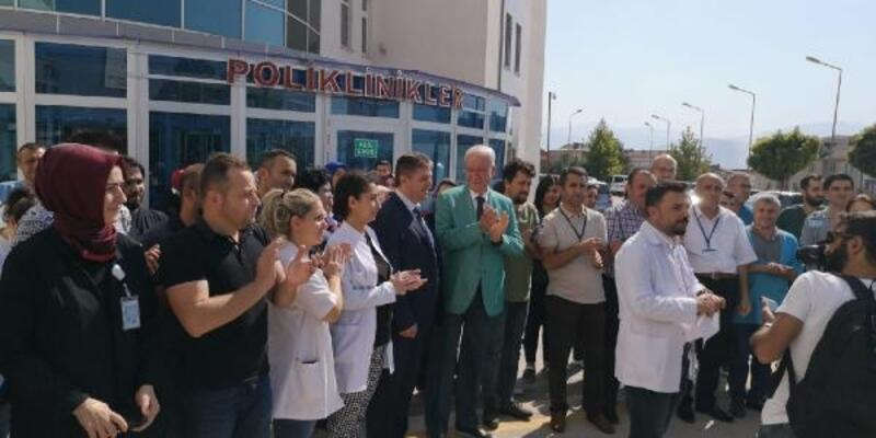Bursa'da doktora şiddete tepki