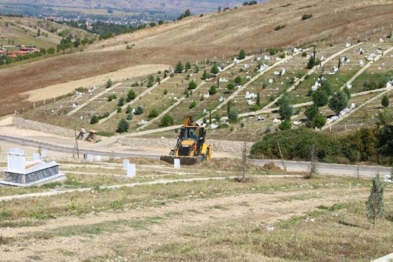 Erbaa'da yeni mezarlık çalışmaları