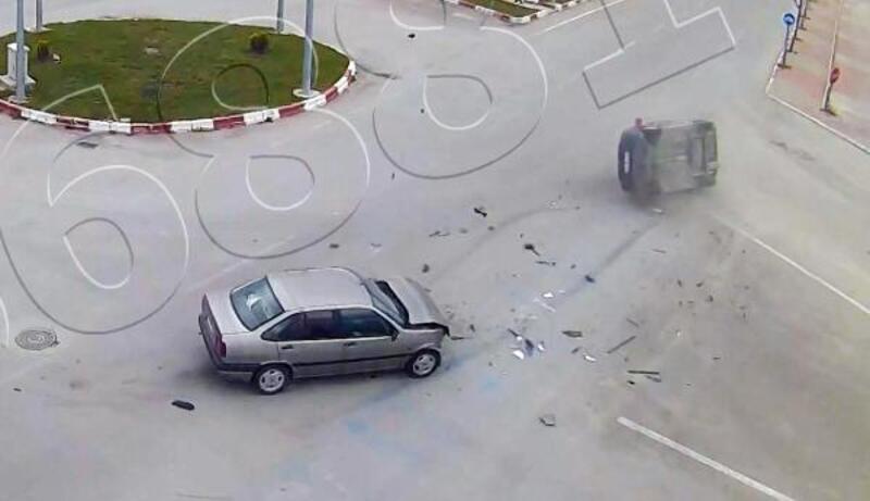 Afyonkarahisar'da trafik kazaları MOBESE'de