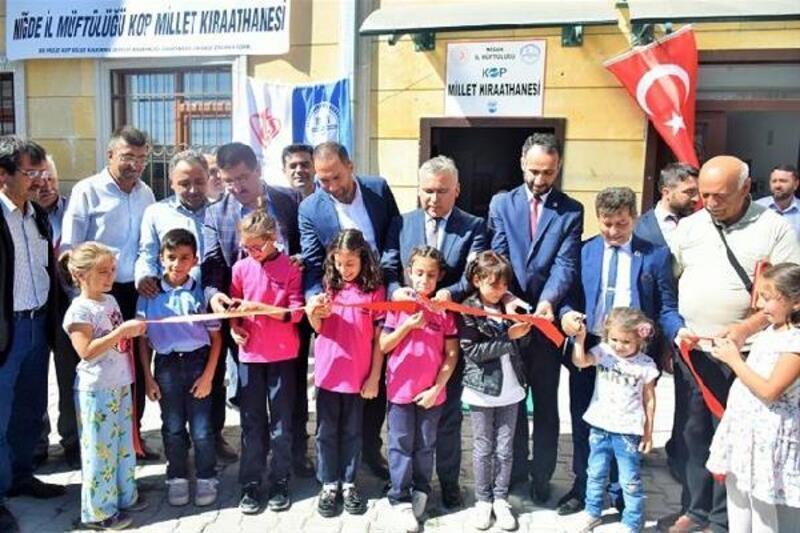 Niğde'de 'Millet Kıraathanesi' hizmete açıldı