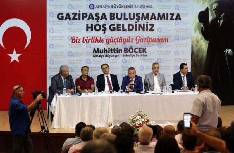Başkan Böcek Gazipaşa'yı ziyaret etti