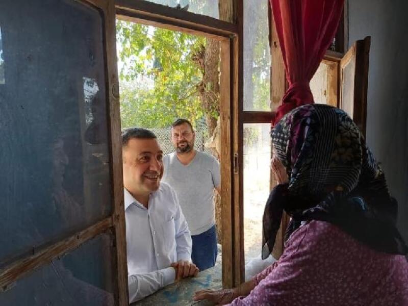 Kaymakam Tanrısever'den ihtiyaç sahibi ailelere ziyaret