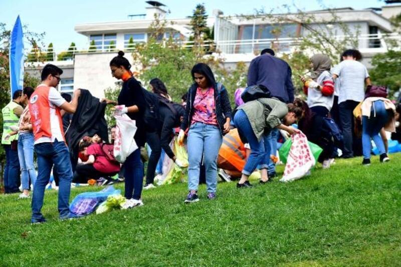 Seğmenler Parkı'ndan 323 kilo atık çıktı