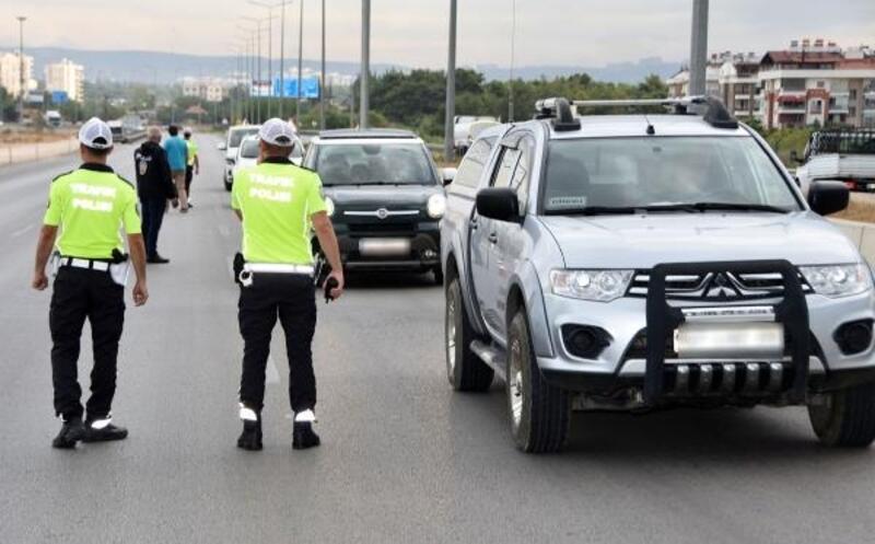 Antalya'da trafik denetimi