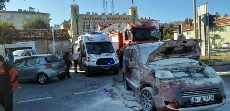 Yeniçağa'da kaza: 2 yaralı