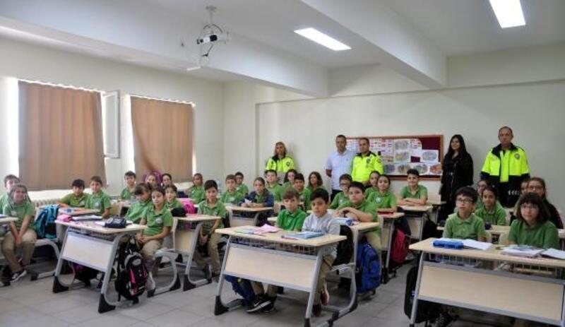 Malkara'da öğrencilere trafik eğitimi verildi