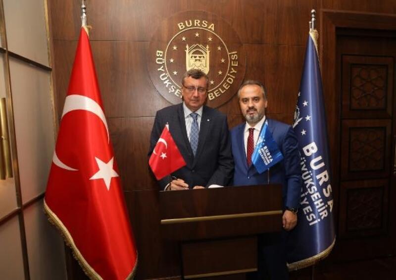 Rusya'nın İstanbul Başkonsolosu Buravov Başkan Aktaş'ı ziyaret etti
