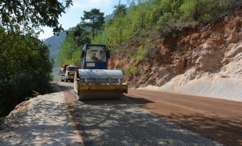 Büyükşehir, Alanya Asmaca yolunun asfaltladı