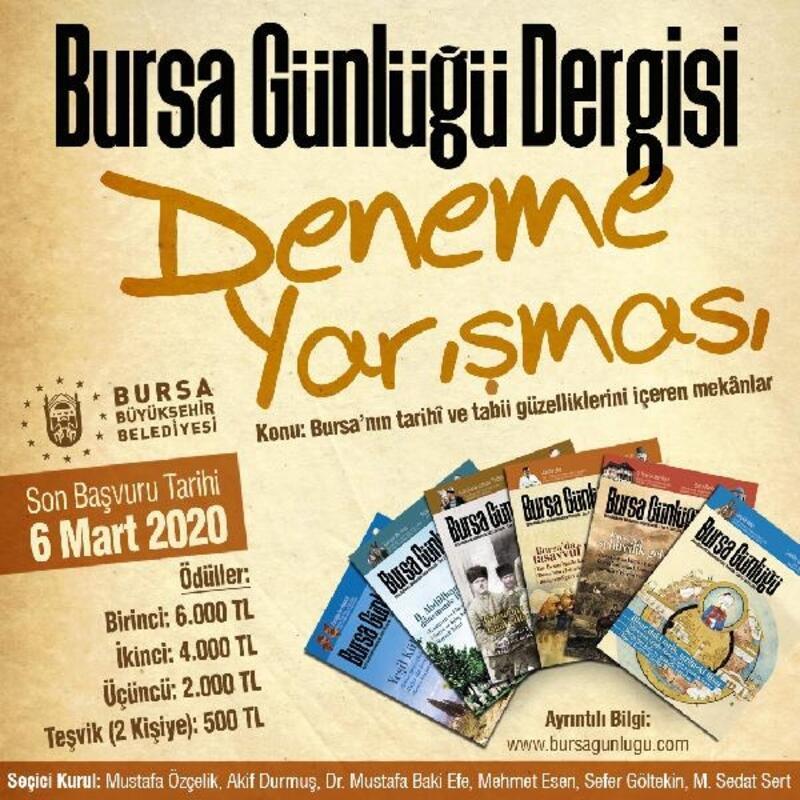 Bursa'ya ilişkin duygularını kaleme alacaklar
