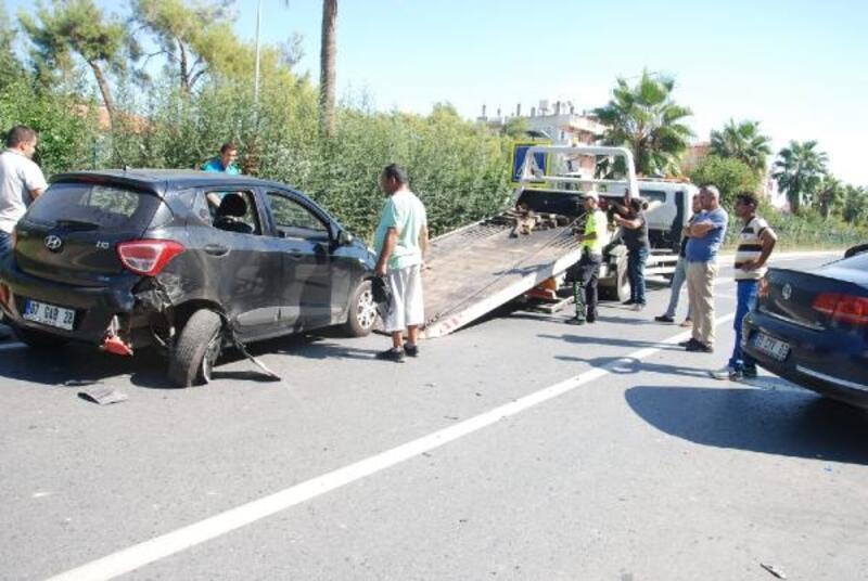 Gazipaşa'da zincirleme trafik kazası