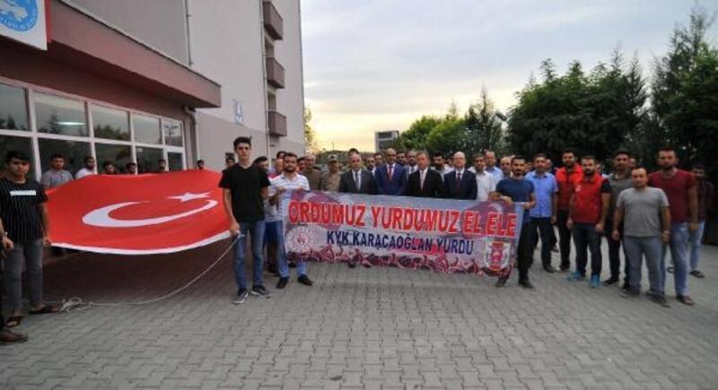 Yurt öğrencilerinden Barış Pınarı Harekatına destek