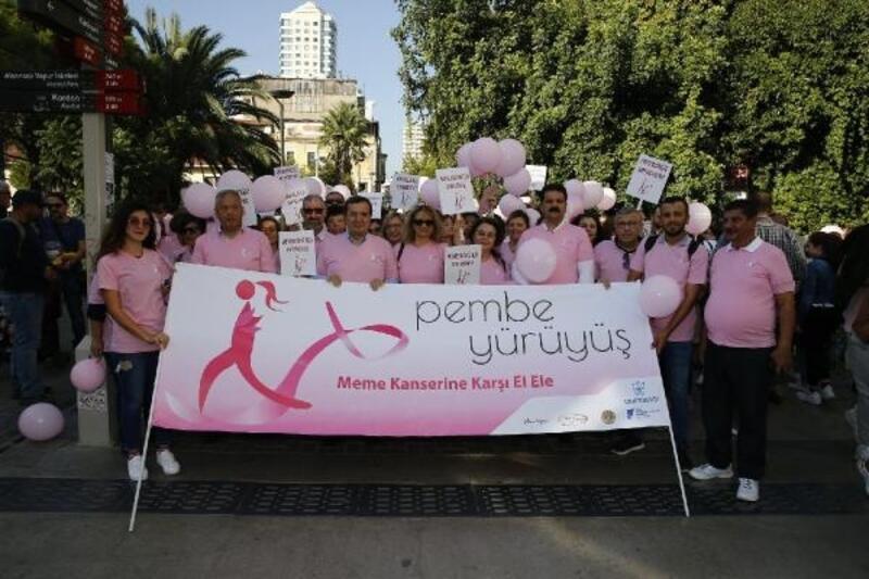 Meme kanseri için pembe yürüyüş