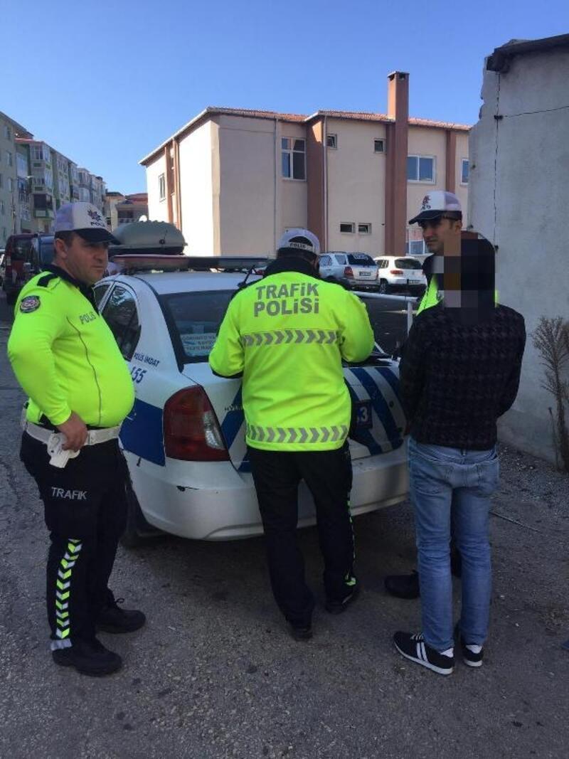 Keşan'da ters yöne giren sürücülere ceza