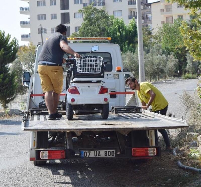 Elektirikli bisiklet kazası: 2 yaralı