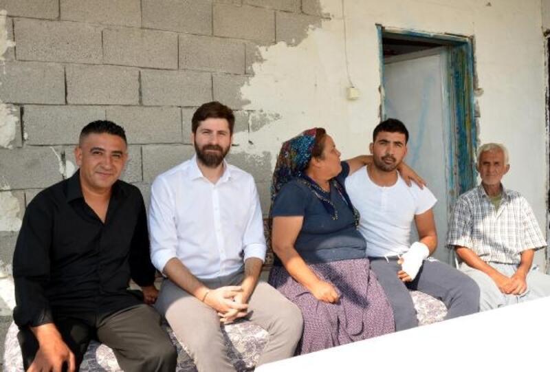 Barış Pınarı Harekatı'nda yaralanan askere baba ocağında