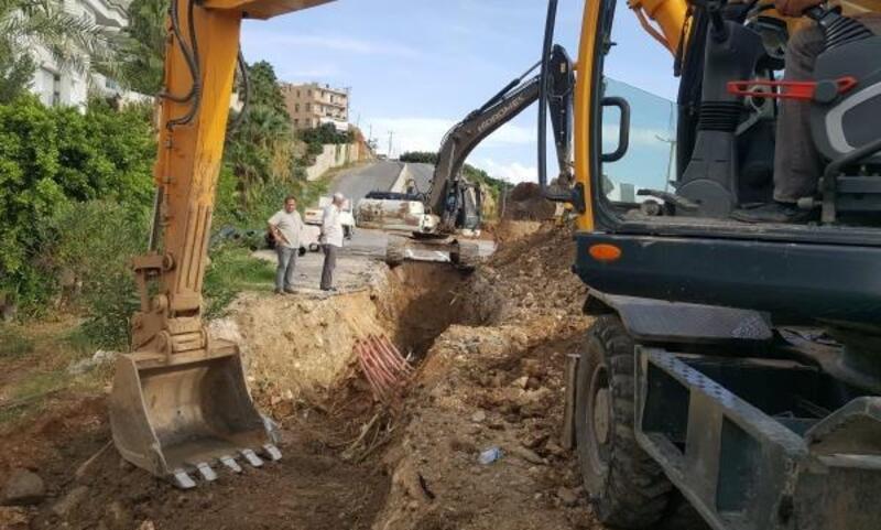 Alanya'da kanalizasyon hattı yenilendi