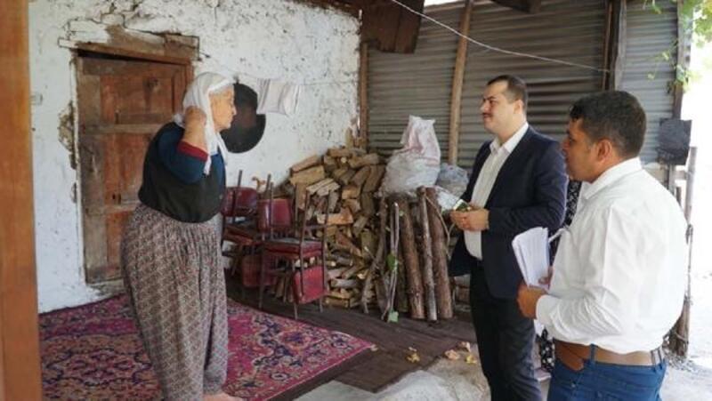 Kaymakam Kılınçoğlu'ndan yaşlı ve kimsesiz aileleri ziyaret