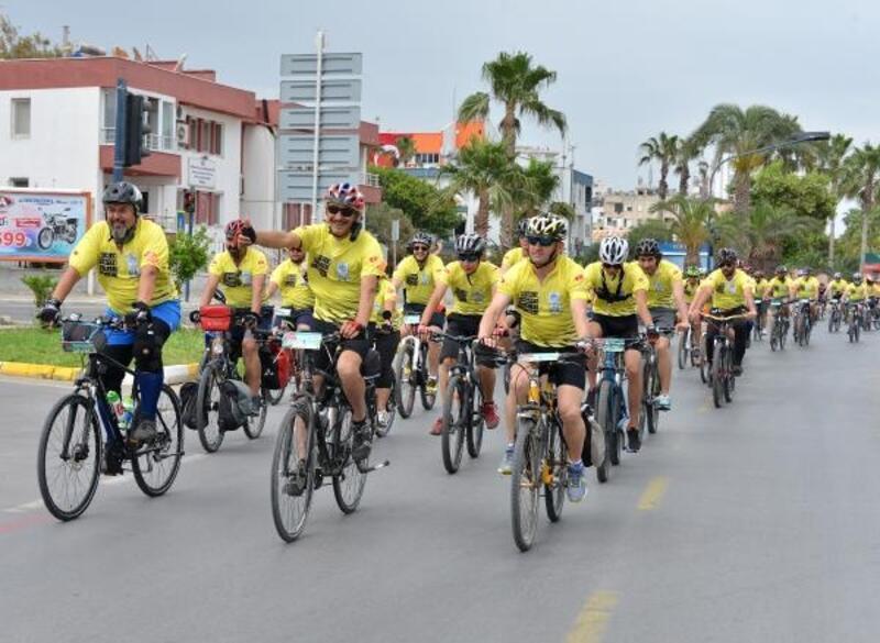 Bisikletliler Mersin'de 135 kilometre pedal çevirecek