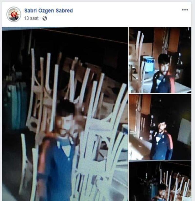 İş yerine giren hırsızı sosyal medyada arıyor