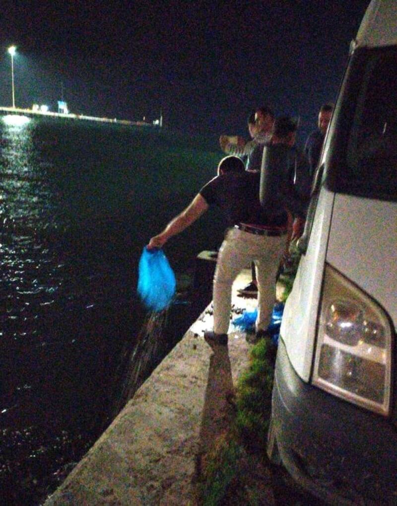 Tekirdağ'da kaçak avlanan 2 ton midye ele geçirildi