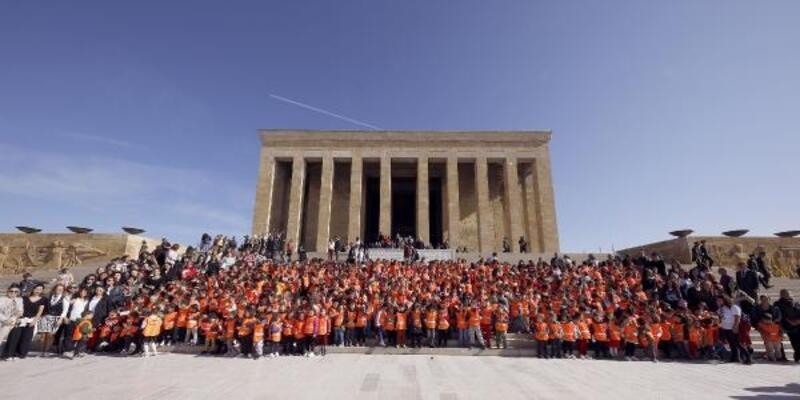 Çankayalı çocuklar Anıtkabir'i ziyaret etti