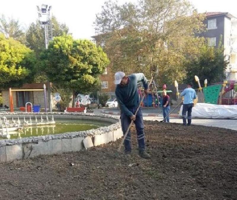 Turhal'da peyzaj çalışmaları sürüyor
