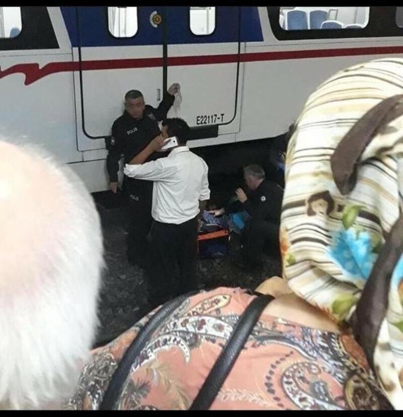 Trenin önüne atlayan kişi yaralandı