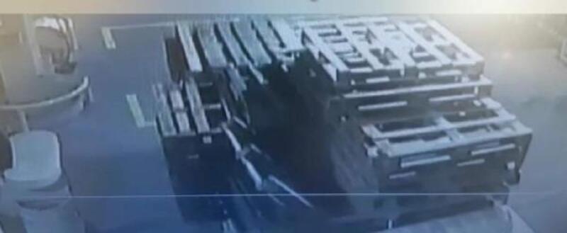 Hırsızlık şüphelisi gizlendiği samanlıkta yakalandı