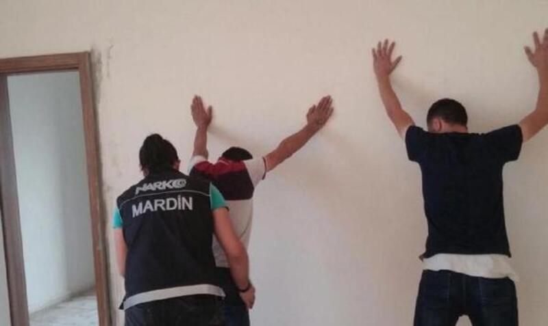 Midyat'ta uyuşturucuya 7 tutuklama