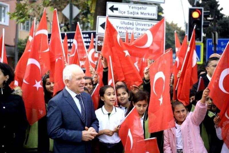Yenişehir'de Cumhuriyetin 96'ncı yıldönümü coşkusu